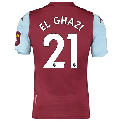 Aston Villa Home Elite Fit Shirt 2019-20 with El Ghazi 21 printing