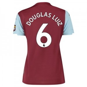 Aston Villa Home Shirt 2019-20 – Womens with Douglas Luiz 6 printing