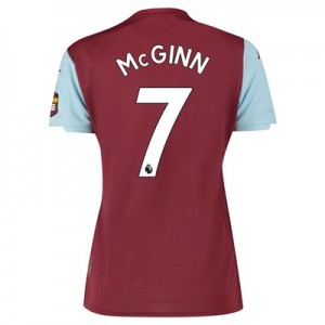 Aston Villa Home Shirt 2019-20 – Womens with McGinn 7 printing