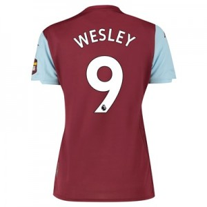 Aston Villa Home Shirt 2019-20 - Womens with Wesley 9 printing