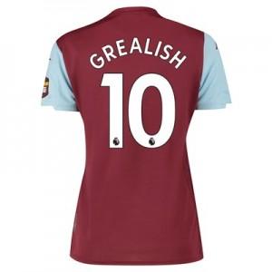 Aston Villa Home Shirt 2019-20 – Womens with Grealish 10 printing