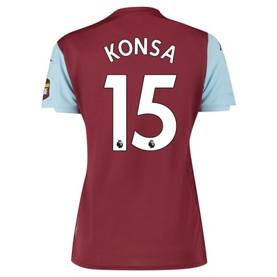 Aston Villa Home Shirt 2019-20 - Womens with Konsa 15 printing