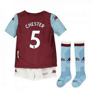 Aston Villa Home Minikit 2019-20 with Chester 5 printing