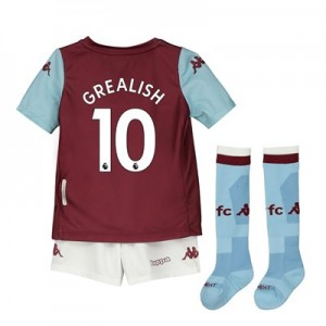 Aston Villa Home Minikit 2019-20 with Grealish 10 printing