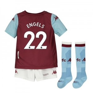 Aston Villa Home Minikit 2019-20 with Engels 22 printing