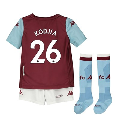 Aston Villa Home Minikit 2019-20 with Kodjia 26 printing