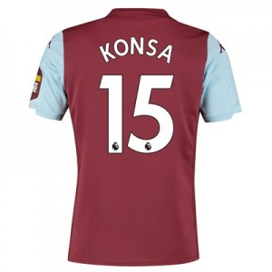 Aston Villa Home Shirt 2019-20 with Konsa 15 printing