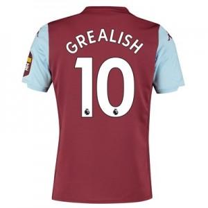 Aston Villa Home Shirt 2019-20 with Grealish 10 printing