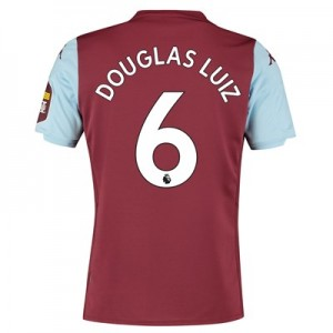 Aston Villa Home Shirt 2019-20 with Douglas Luiz 6 printing