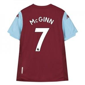 Aston Villa Home Shirt 2019-20 – Kids with McGinn 7 printing