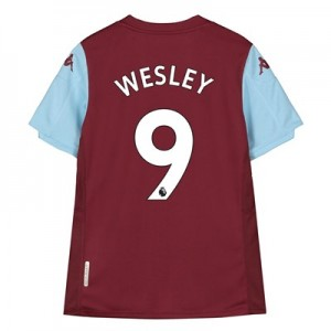 Aston Villa Home Shirt 2019-20 - Kids with Wesley 9 printing