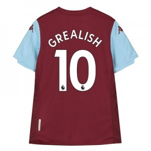 Aston Villa Home Shirt 2019-20 – Kids with Grealish 10 printing