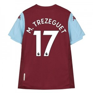 Aston Villa Home Shirt 2019-20 – Kids with M. Trezeguet 17 printing