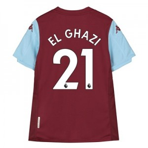 Aston Villa Home Shirt 2019-20 – Kids with El Ghazi 21 printing