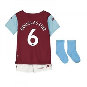 Aston Villa Home Babykit 2019-20 with Douglas Luiz 6 printing