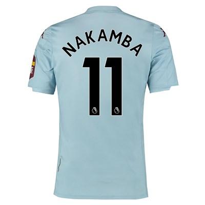 Aston Villa Away Elite Fit Shirt 2019-20 with Nakamba 11 printing