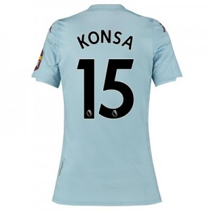 Aston Villa Away Shirt 2019-20 - Womens with Konsa 15 printing