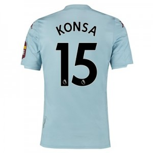 Aston Villa Away Shirt 2019-20 with Konsa 15 printing