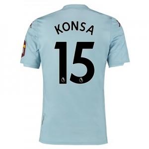 Aston Villa Away Shirt 2019-20 with Konsa 15 printing