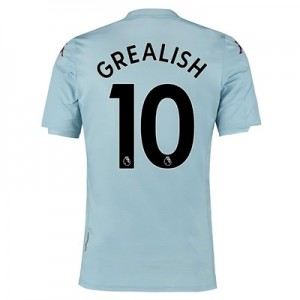Aston Villa Away Shirt 2019-20 - Kids with Grealish 10 printing
