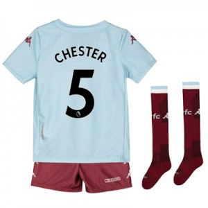 Aston Villa Away Minikit 2019-20 with Chester 5 printing
