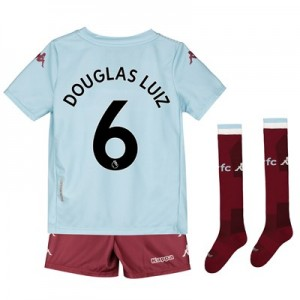 Aston Villa Away Minikit 2019-20 with Douglas Luiz 6 printing