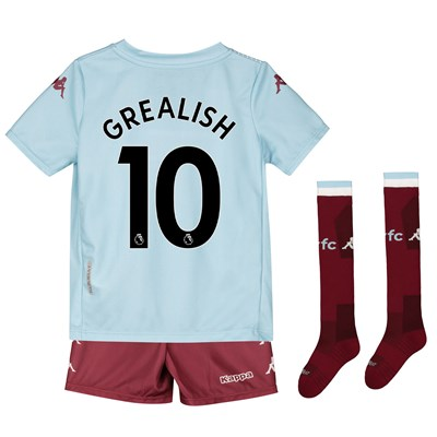 Aston Villa Away Minikit 2019-20 with Grealish 10 printing