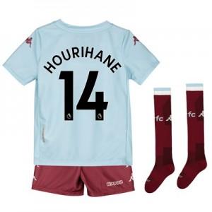 Aston Villa Away Minikit 2019-20 with Hourihane 14 printing