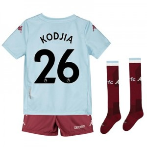 Aston Villa Away Minikit 2019-20 with Kodjia 26 printing