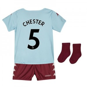 Aston Villa Away Babykit 2019-20 with Chester 5 printing