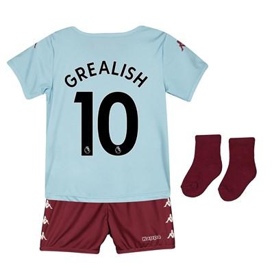 Aston Villa Away Babykit 2019-20 with Grealish 10 printing
