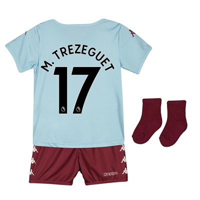 Aston Villa Away Babykit 2019-20 with M. Trezeguet 17 printing