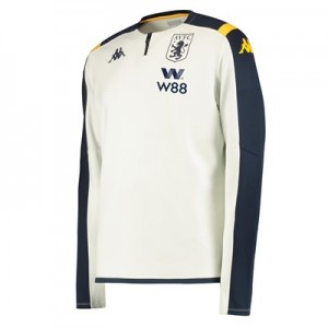Aston Villa 1/4 Zip Training Top - Ivory