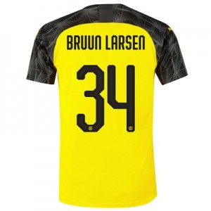 BVB Cup Home Shirt 2019-20 with Bruun Larsen 34 printing