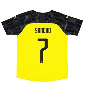 BVB Cup Home Shirt 2019-20 - Kids with Sancho 7 printing