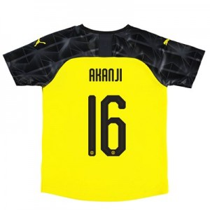 BVB Cup Home Shirt 2019-20 – Kids with Akanji 16 printing