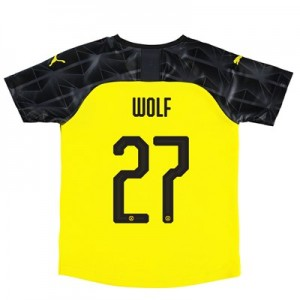 BVB Cup Home Shirt 2019-20 – Kids with Wolf 27 printing