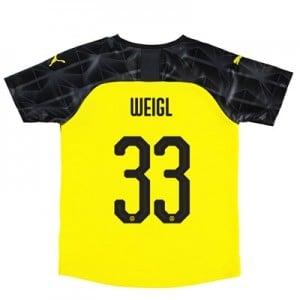 BVB Cup Home Shirt 2019-20 – Kids with Weigl 33 printing