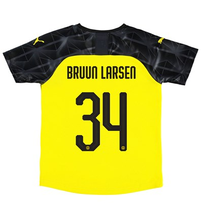 BVB Cup Home Shirt 2019-20 - Kids with Bruun Larsen 34 printing