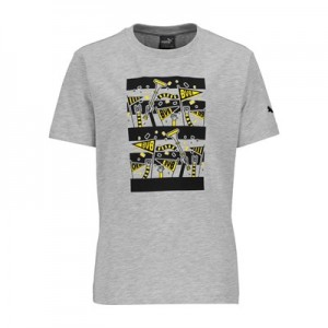 BVB Fan T-Shirt - Light Grey - Kids