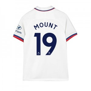 Chelsea Away Stadium Shirt 2019-20 – Kids with Mount 19 printing
