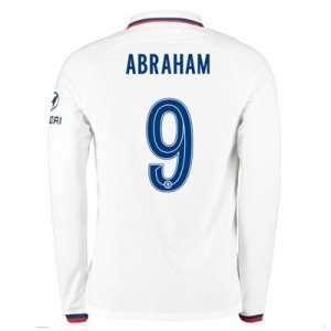 Chelsea Away Cup Stadium Shirt 2019-20 - Long Sleeve with Abraham 9 printing