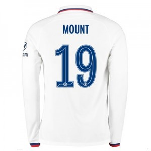Chelsea Away Cup Stadium Shirt 2019-20 - Long Sleeve with Mount 19 printing