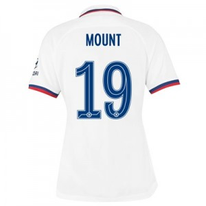 Chelsea Away Cup Stadium Shirt 2019-20 – Womens with Mount 19 printing