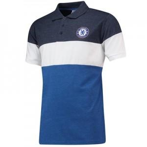 Chelsea Colour Blocked Polo Shirt - Blue/Navy/White - Mens