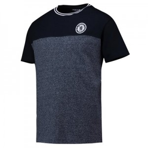 Chelsea Classics Contrast T-Shirt – Total Eclipse/Denim Marl – Mens