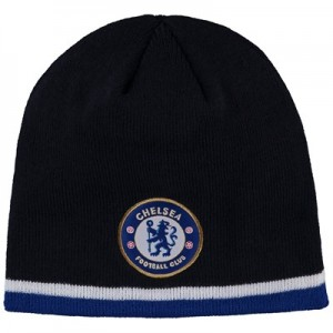 Chelsea Skull Knit Tipped Hat - Navy - Adult