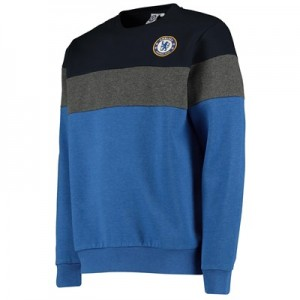 Chelsea Cut and Sew Crew Neck Sweat - Blue - Mens