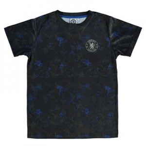 Chelsea Camo Effect Printed Poly T-Shirt - Navy - Boys