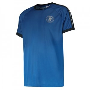 Chelsea Gradient Effect Printed Poly T-Shirt - Blue - Mens